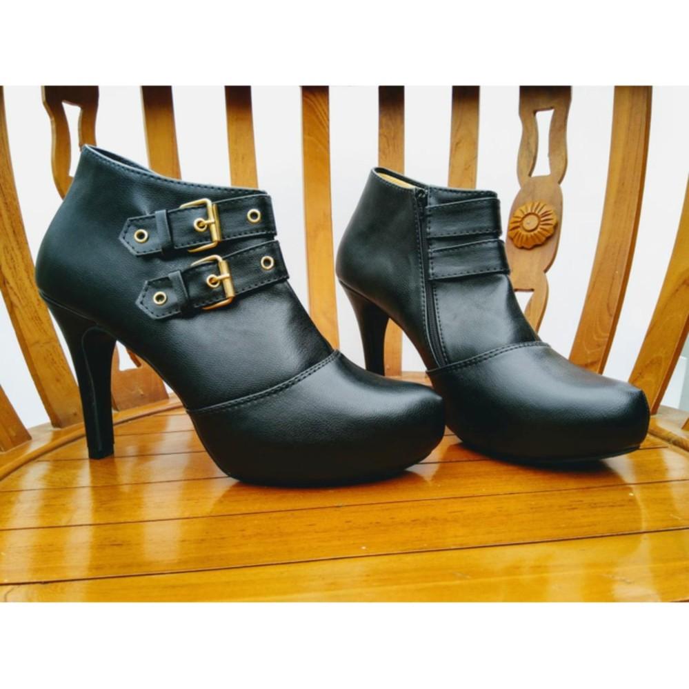 Beli Sepatu Boots Heels Korean Style Cx Pakai Kartu Kredit