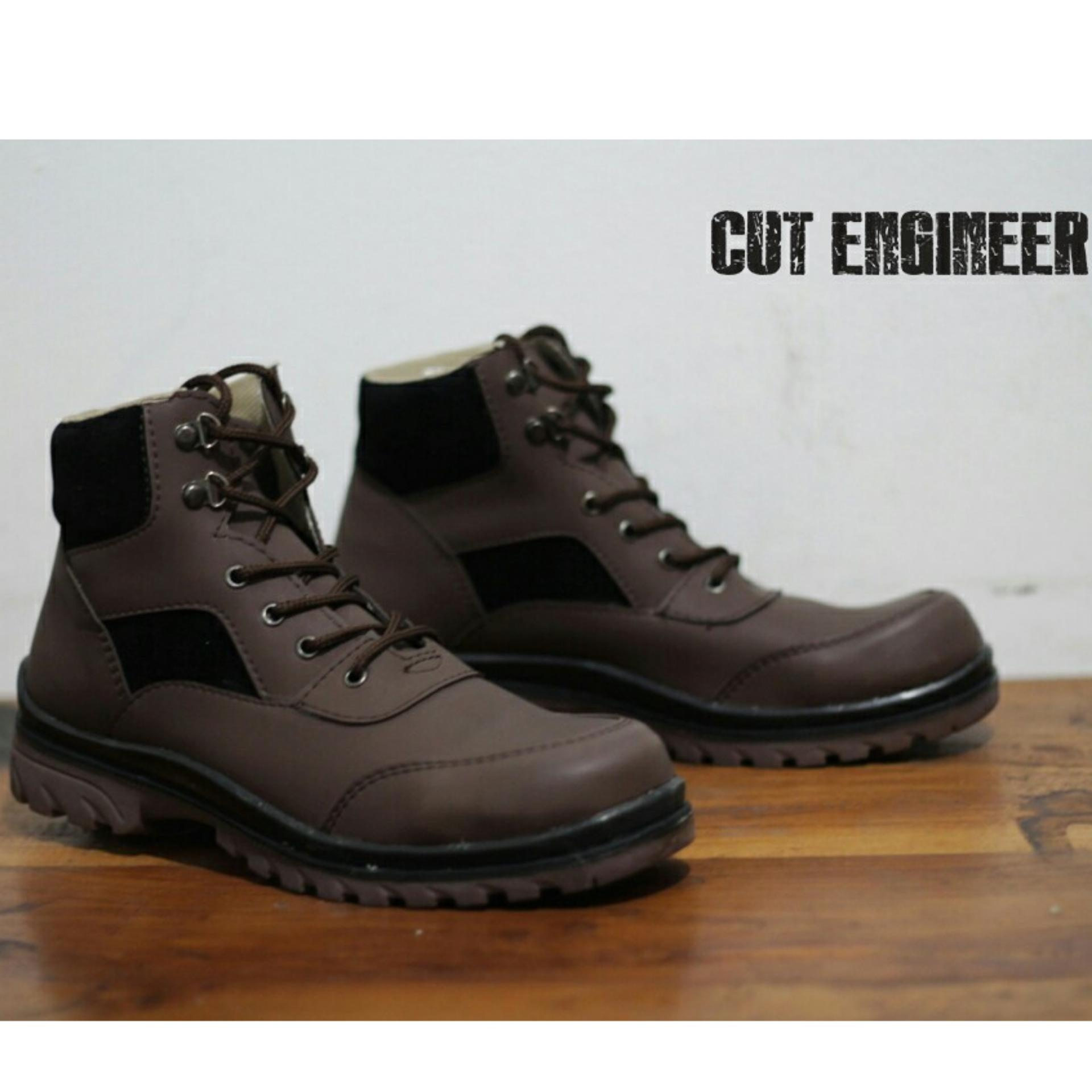 Sepatu Boots High Quality Tracking Pria Branded - CUT ENGINER CE 10 - Brown