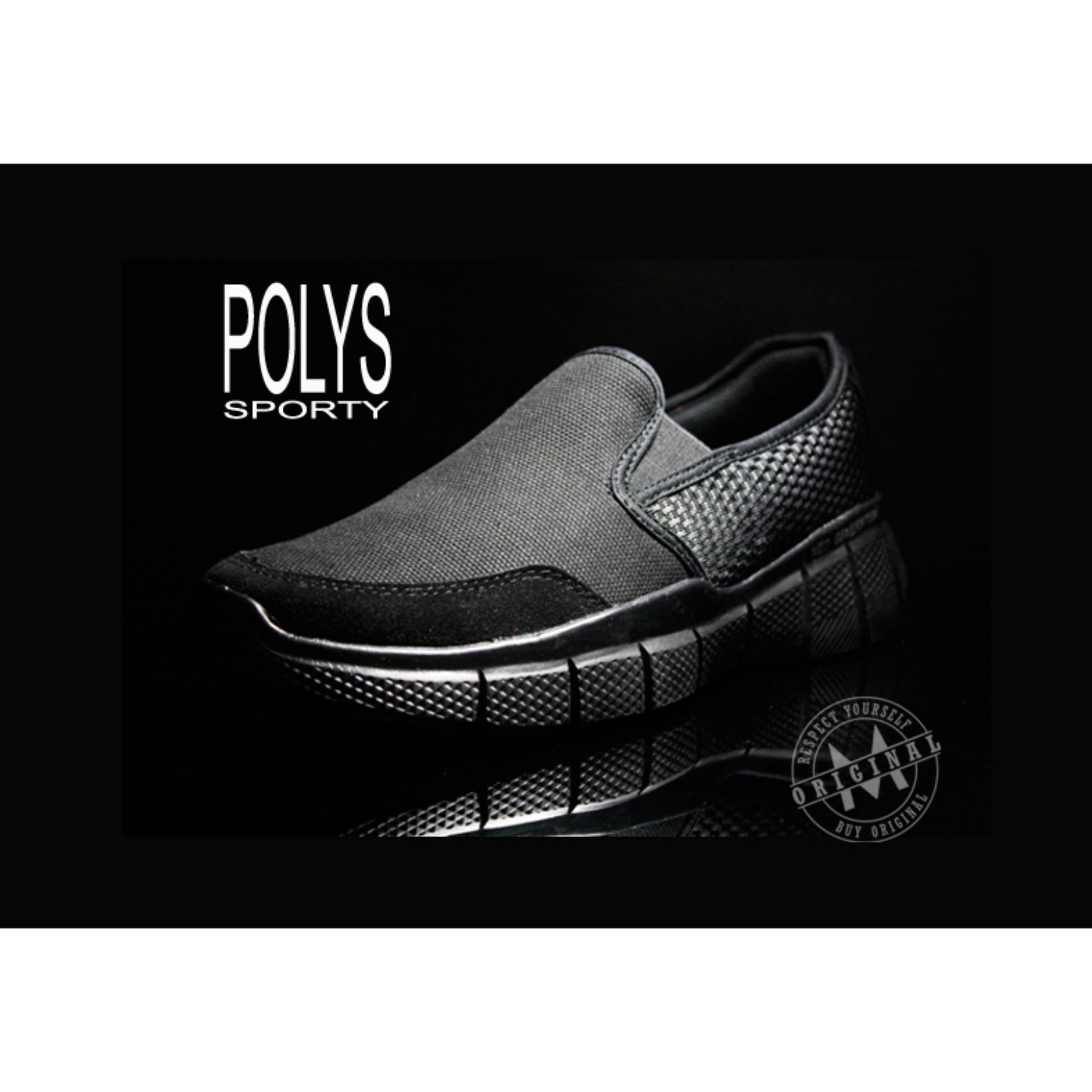 Toko Sepatu Casual Ardiles Pria Polys Hitam 39 43 Terlengkap