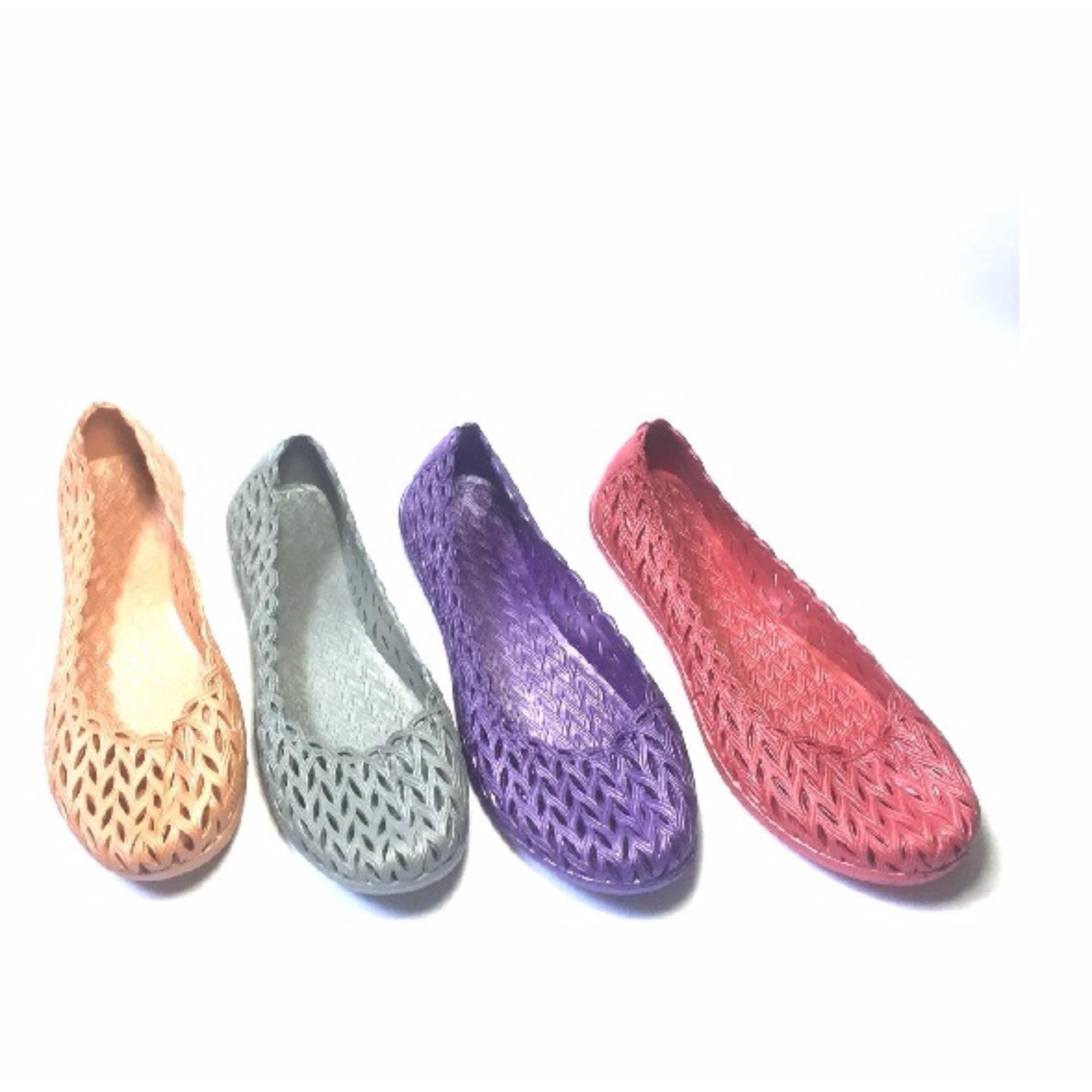 Sepatu Casual Glacio Anyaman Warna Warni - Random