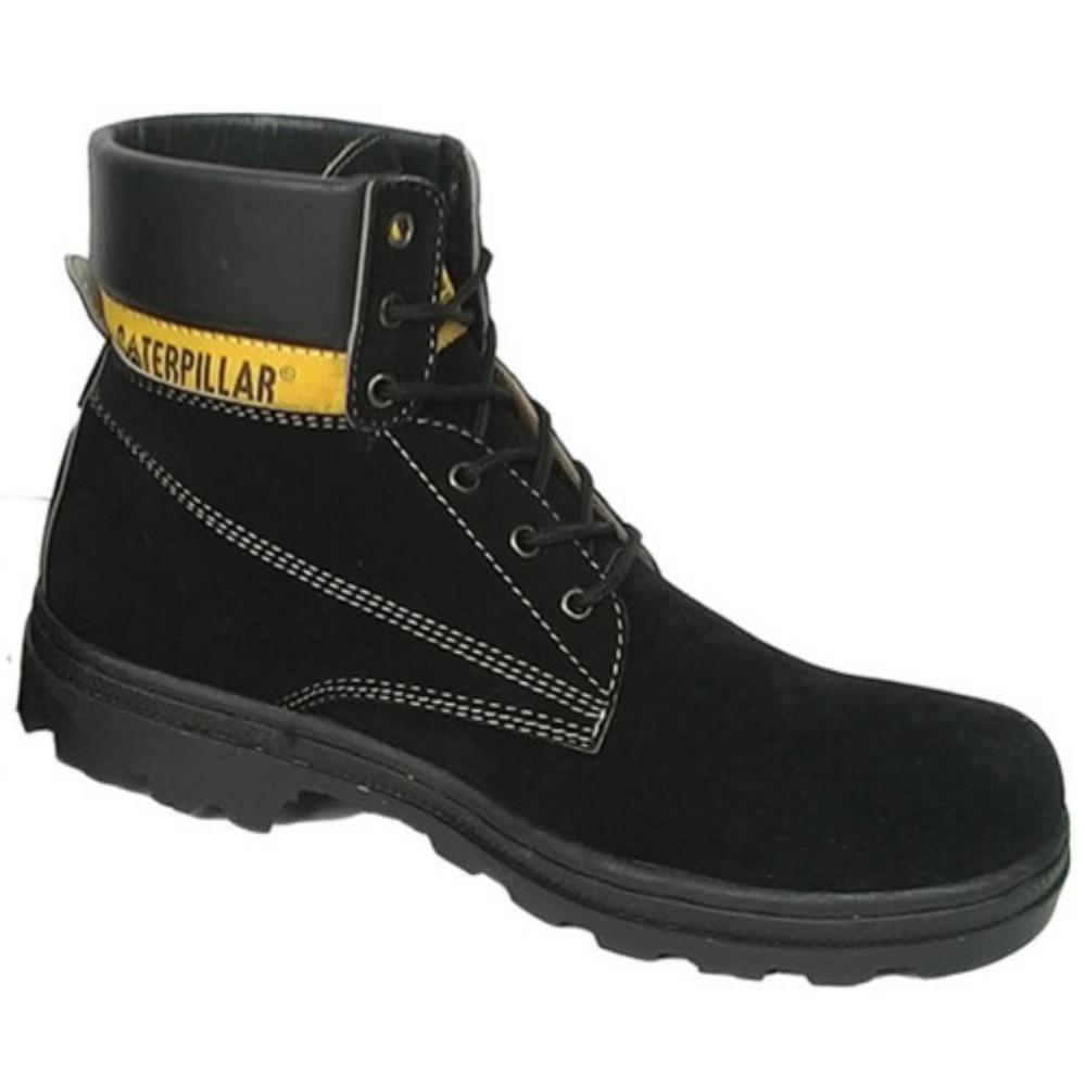Sepatu caterpillar hitam suede. sepatu gunung caterpillar sepatu caterpilar safety shoes hitam tinggi suede