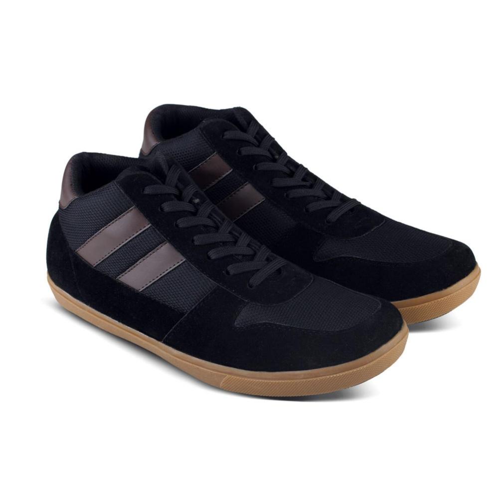 Sepatu DB 484 Sepatu Sneakers Kets Boot dan Kasual Pria utk sekolah, kuliah, kerja, jalan - Hitam