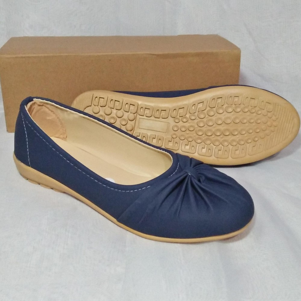 Rp 89.900. Sepatu Flat Balerina biru navi Sepatu Wanita Flat Shoes Ballet Cantik Terbaru ...