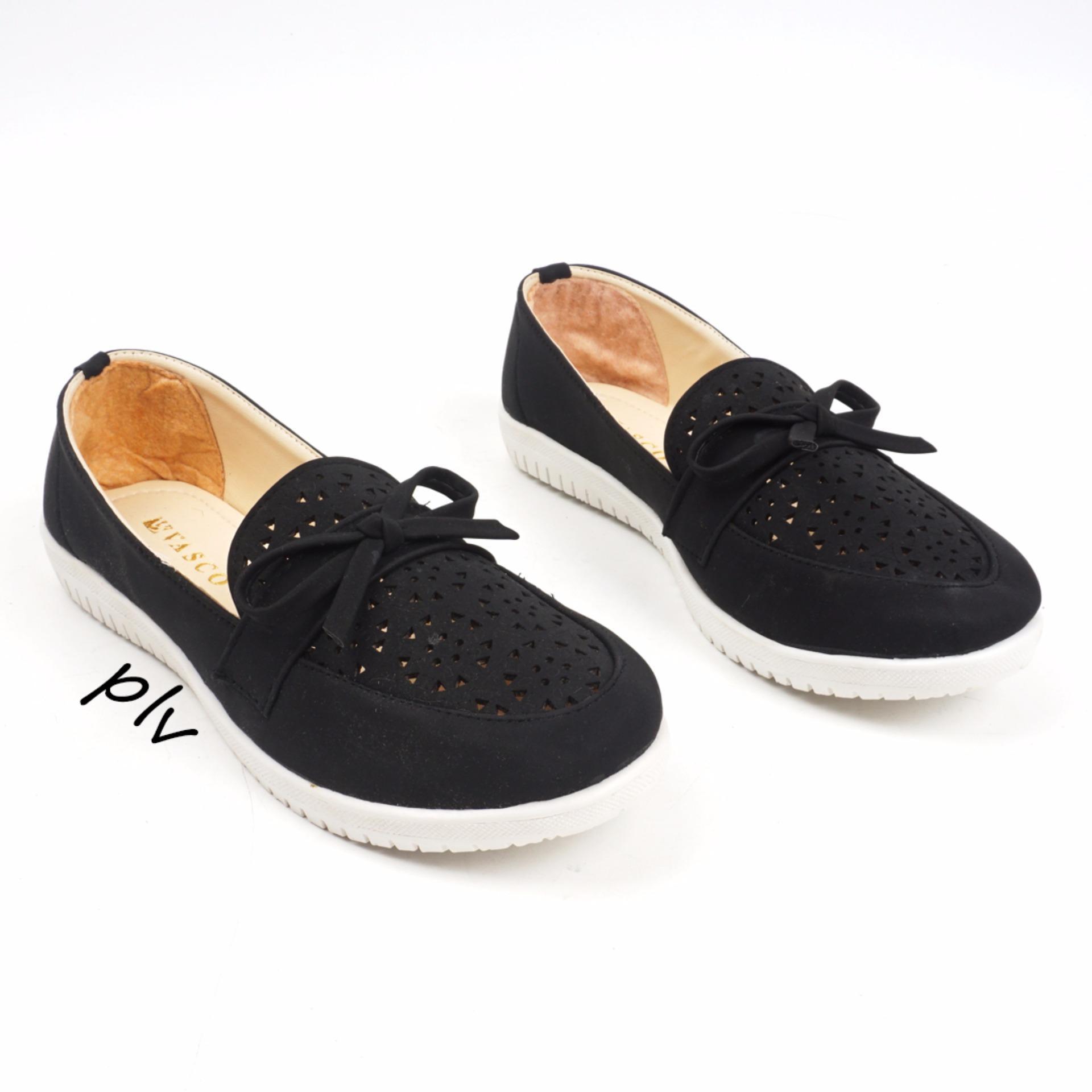 Ulasan Tentang Sepatu Flat Shoes Slip On Ry01 Hitam