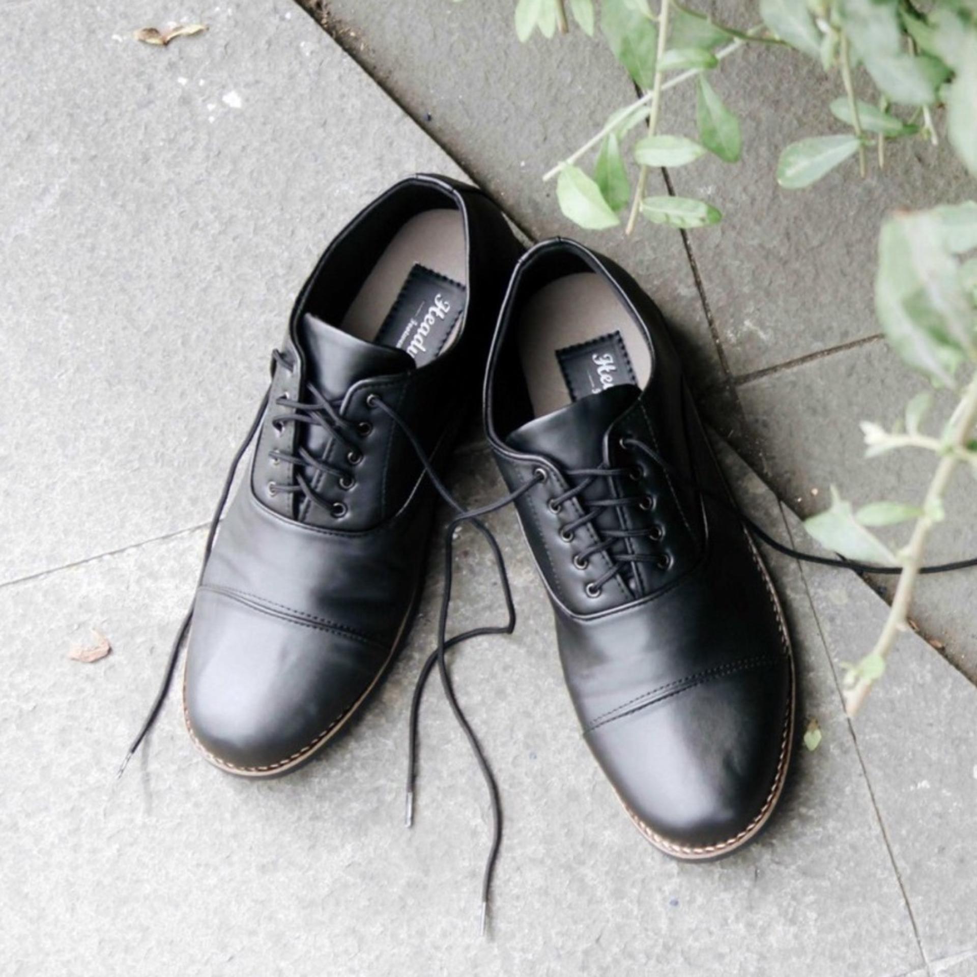 Jual Sepatu Formal Casual Pria Zuckerberg Headway Black Original