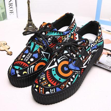 Ulasan Tentang Versi Korea Dari Warna Wanita Yang Berat Itu Kasual Sepatu Globe Kain
