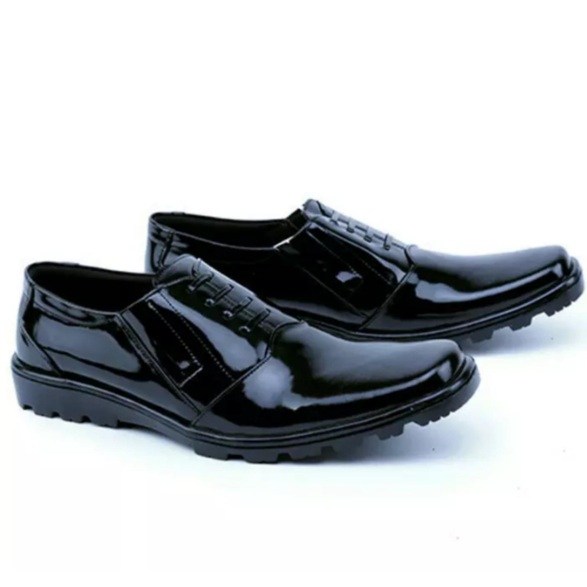 Sepatu Kulit Asli Pria, Pdh Pendek, Pantofel Distro Bandung, Pdh Polisi, Sepatu Pantofel Kulit Mengkilap, GR 137