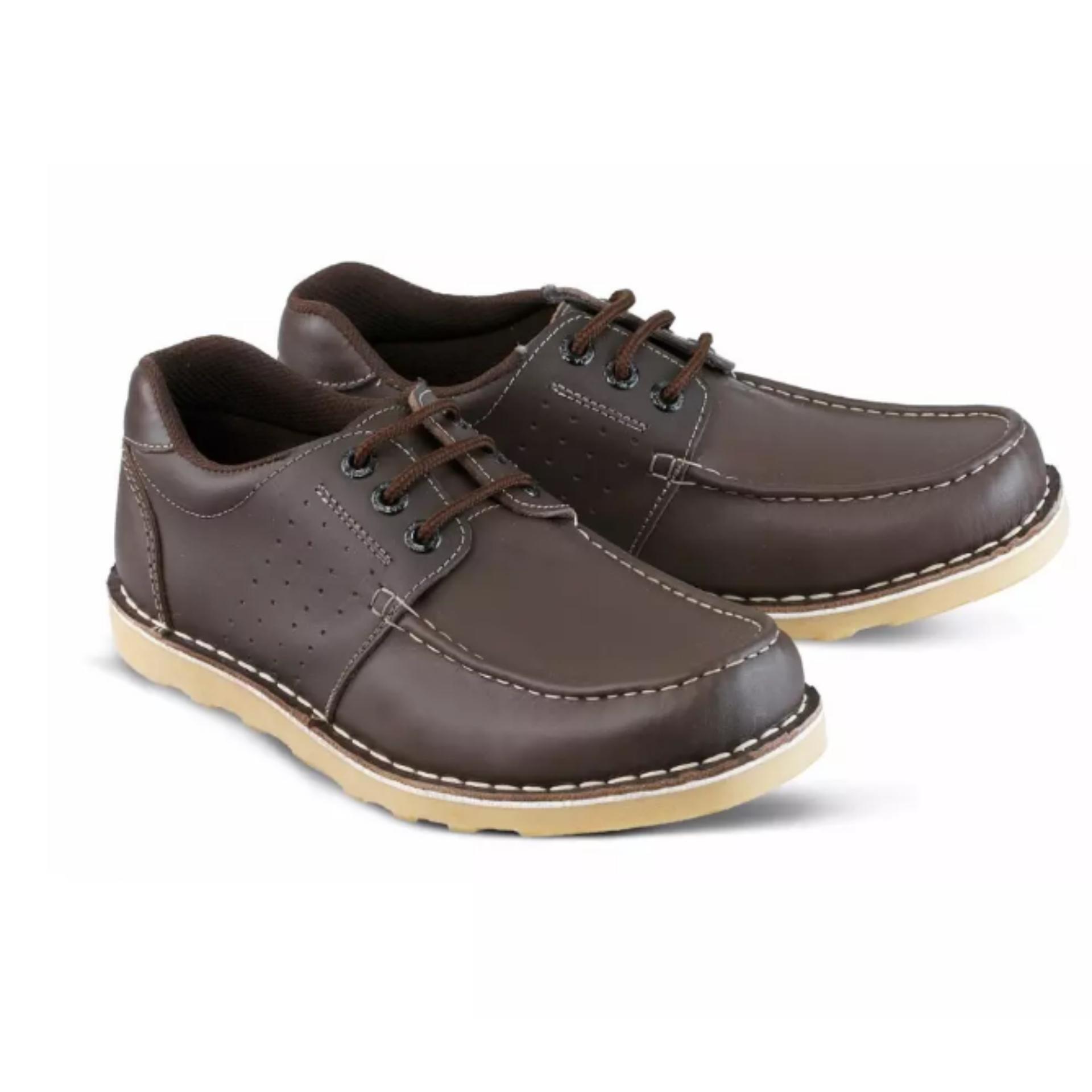 Sepatu Kulit Pria Sepatu Low Boot Pria Sepatu Kulit Cibaduyut Bandung Asli 7825