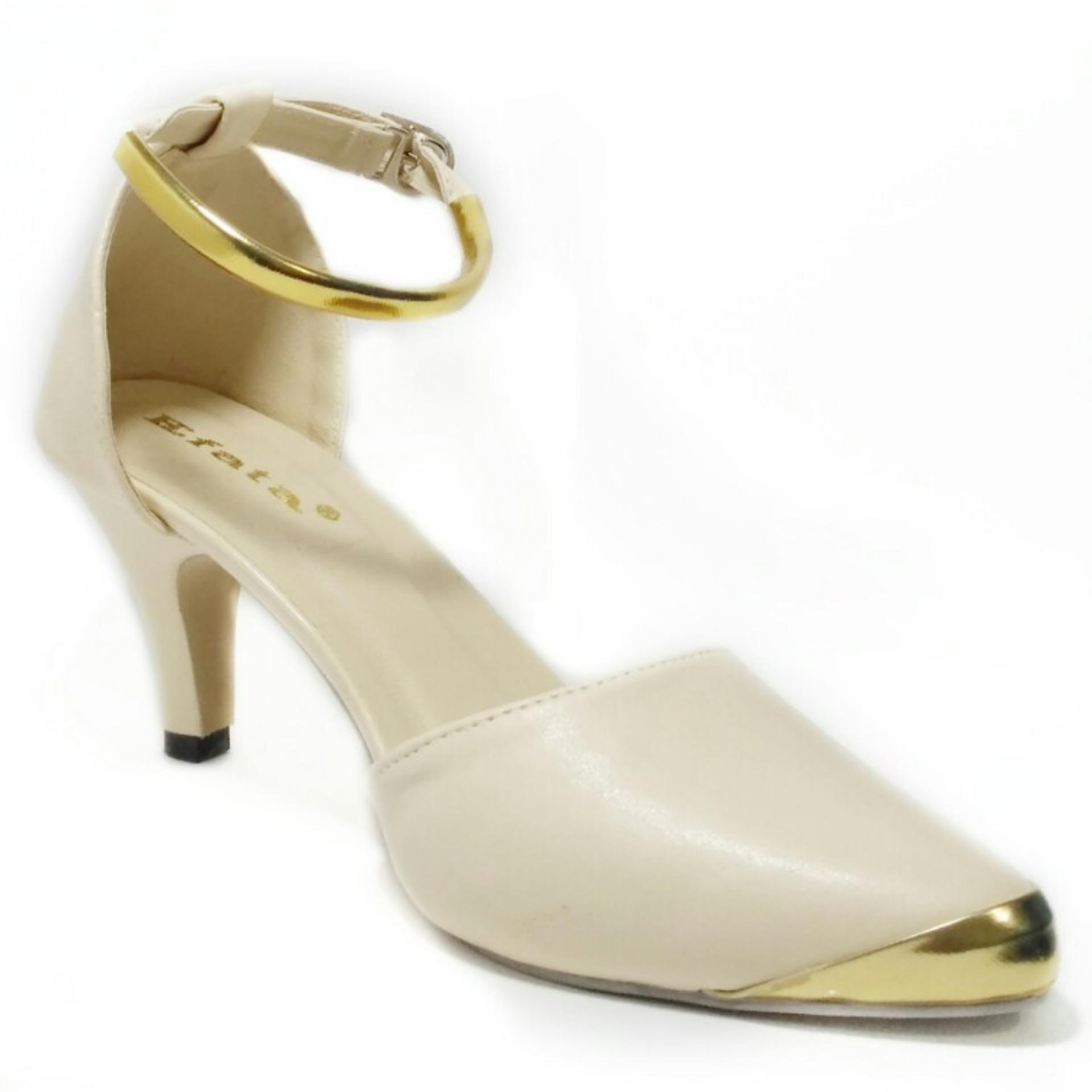 Harga Sepatu Murah High Heels Wanita Gp06 Cream Termurah