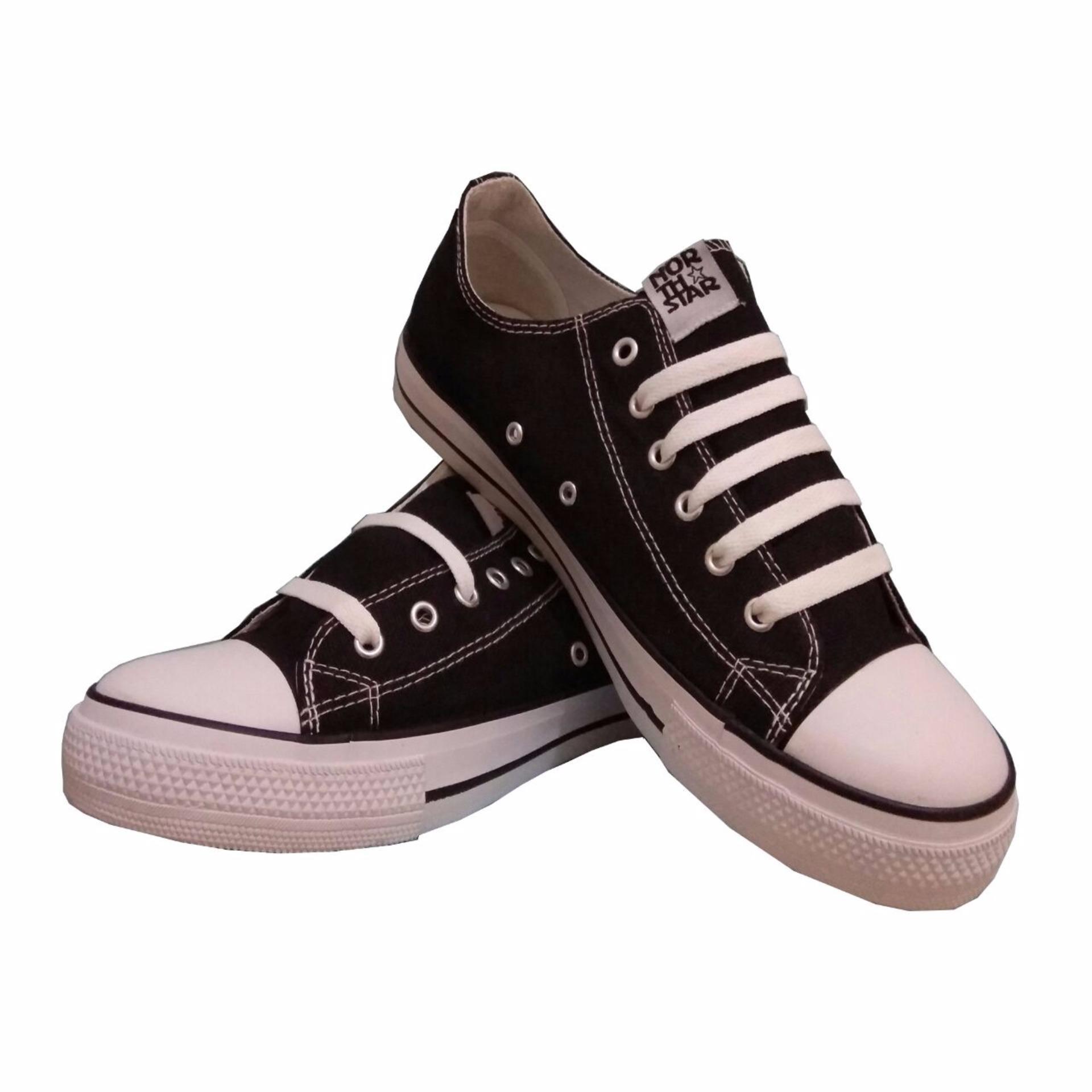 Jual Sepatu North Star Low Cut Black White Branded