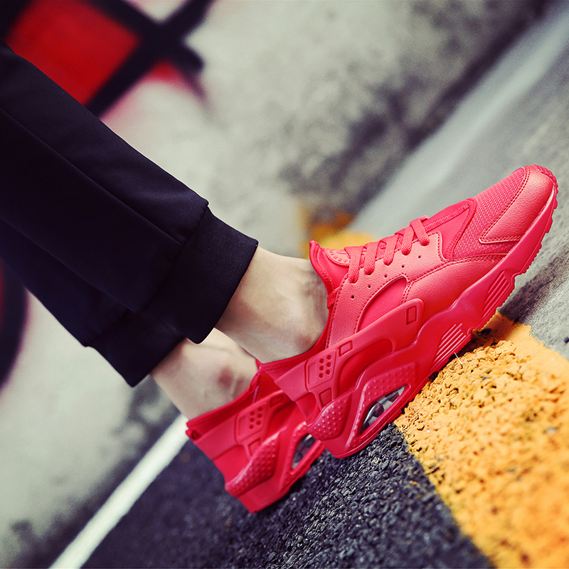Promo Toko Sepatu Kanvas Pria Insole Empuk Jenis Kain Mesh Olahraga Merah