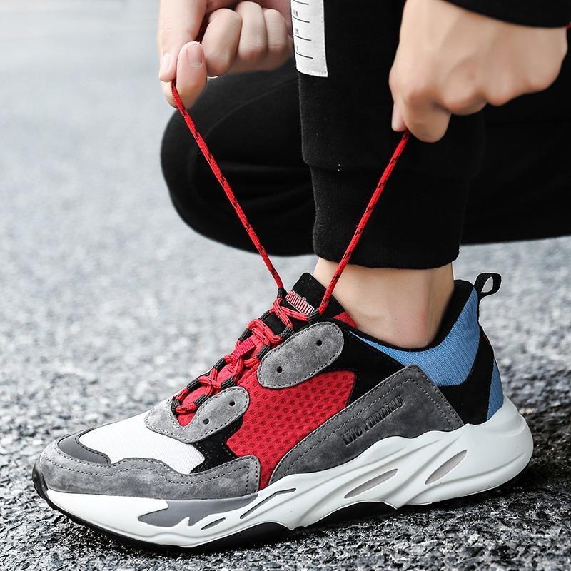 Diskon Sepatu Olahraga Sepatu Pria Jatuh Wanita Sepatu Meningkatkan Sepatu Sepatu Tren Pemuda Korea Breathable Running Shoes Intl Branded
