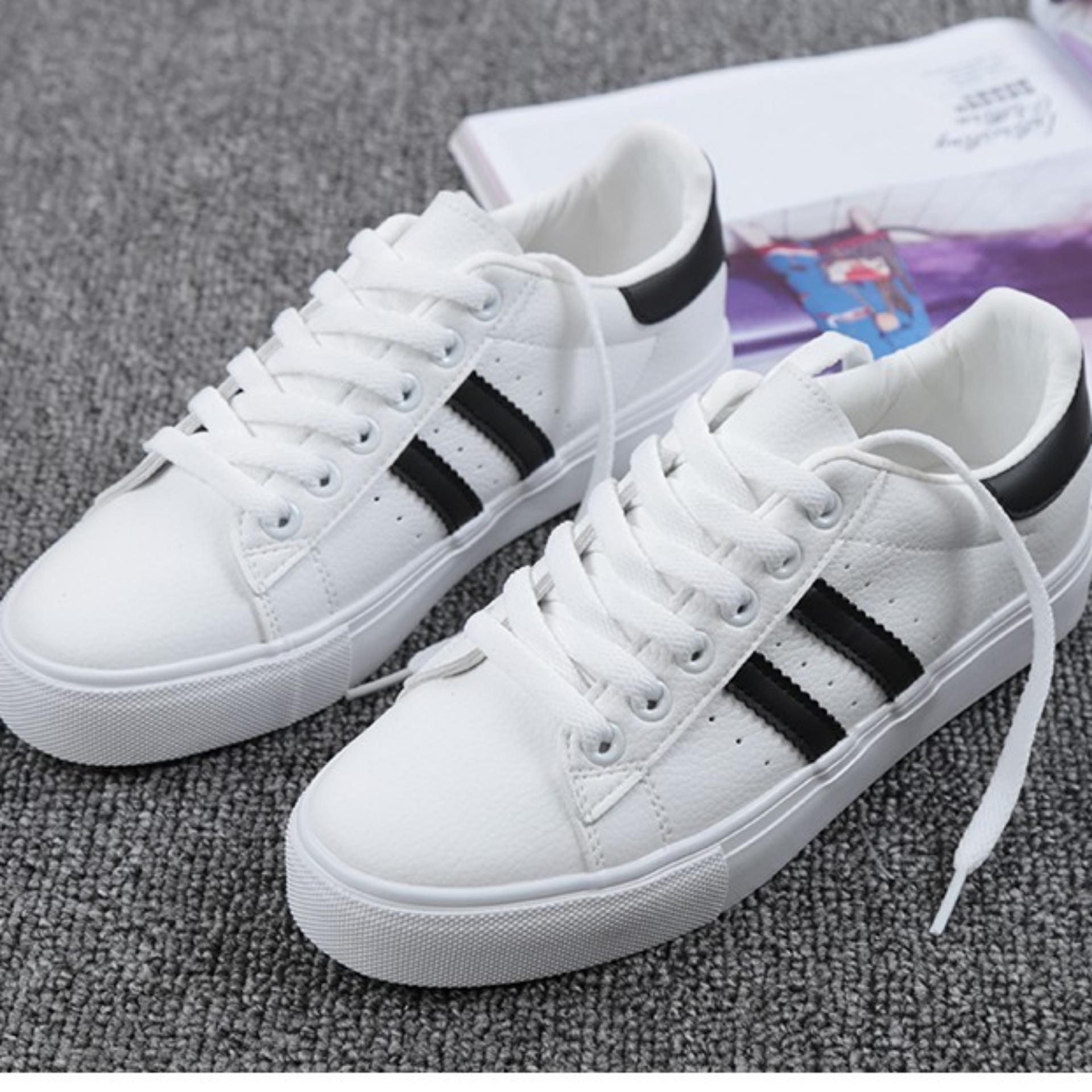 Buy Sell Cheapest Sepatu Olahraga Dan Best Quality Product Deals Pria Kasual Sneaker Bandung Wanita Putih Lis Hitam