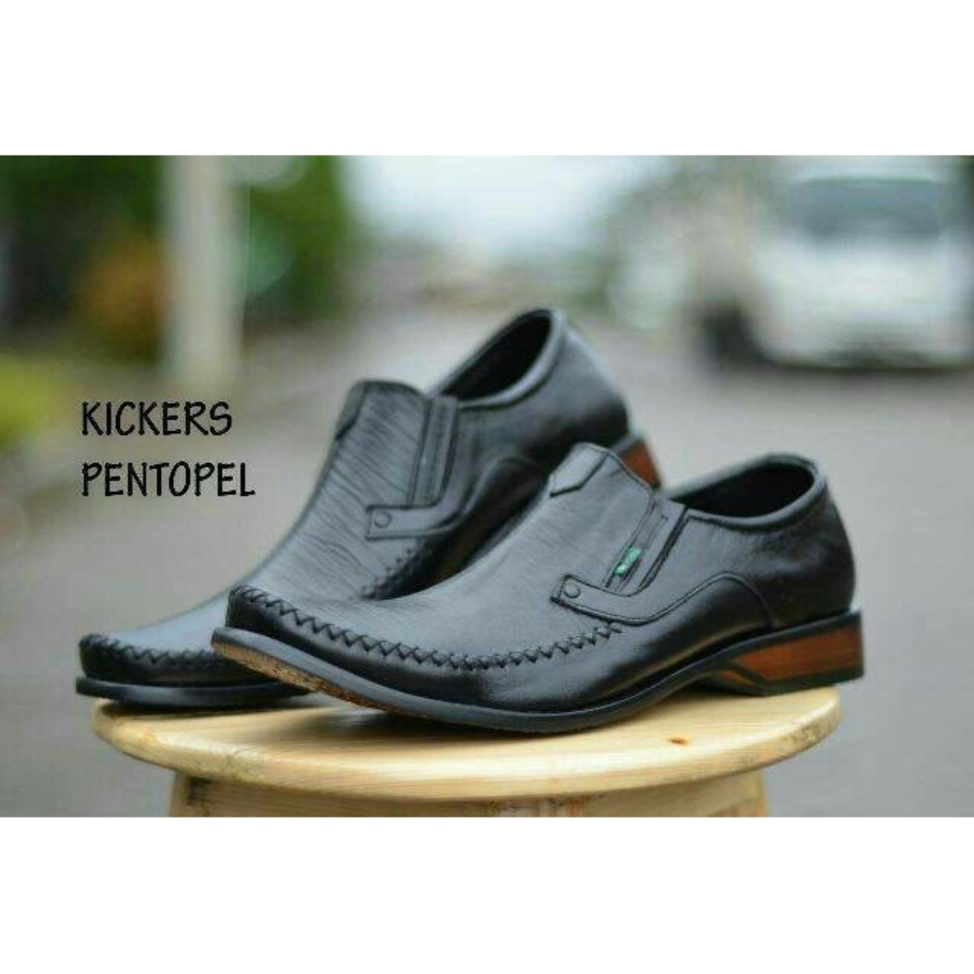 Spesifikasi Sepatu Pantofel Pria Kickers City Wood Terbaru