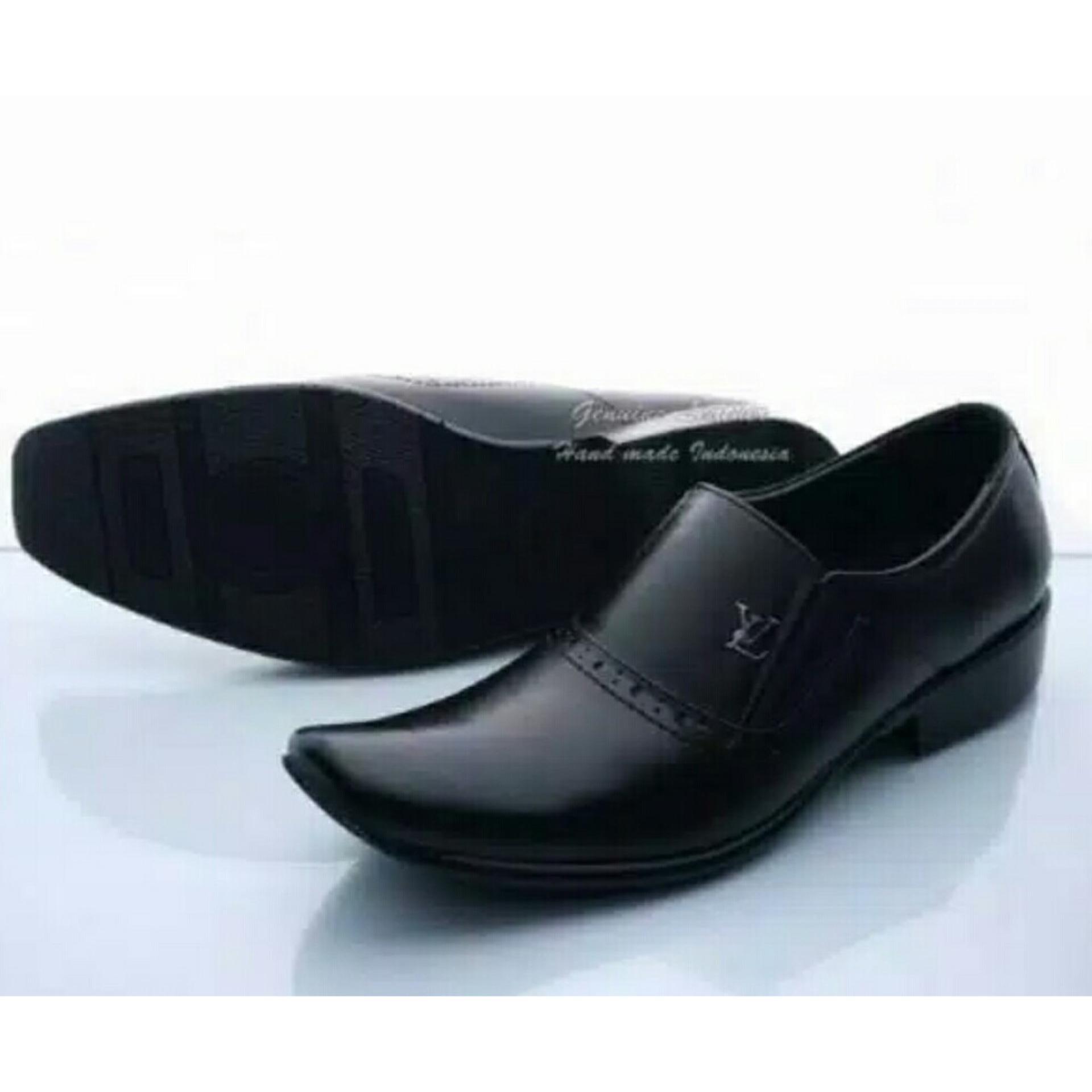 Spesifikasi Sepatu Pantofel Pria Kulit Asli Hand Madepremium Model Lv 075 Ht Sepatu Pantofel Terbaru