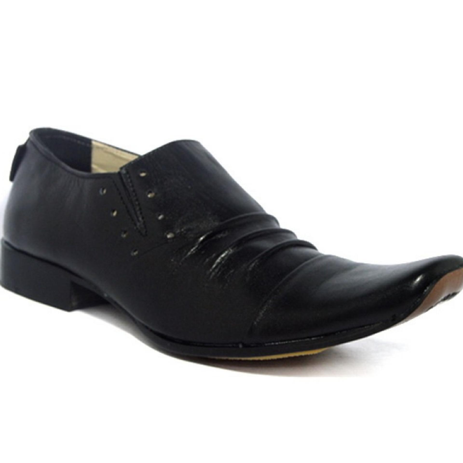 Toko Sepatu Pantopel Pria Sepatu Kulit Asli Cevany Kulit Remple Hitam Online