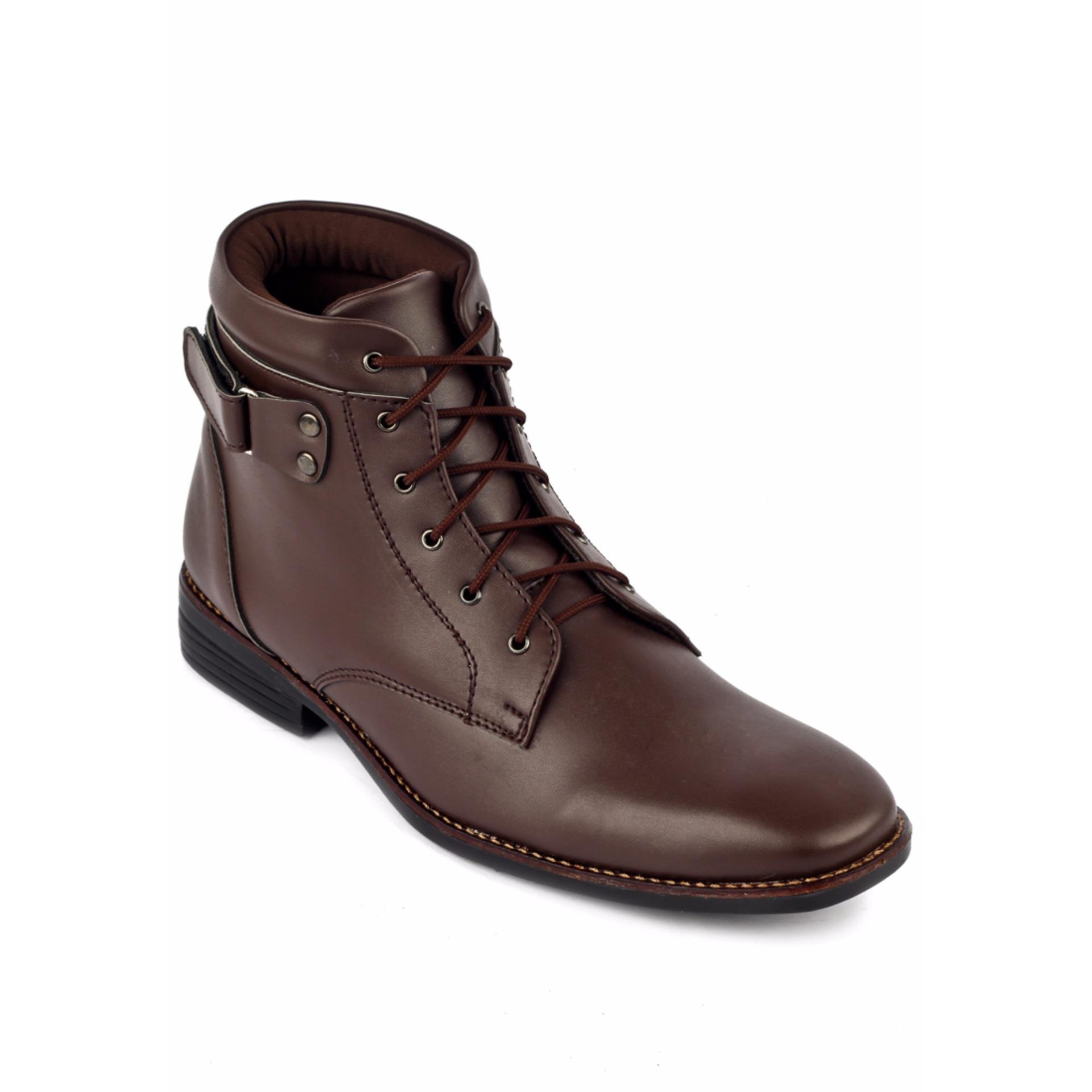 Promo Sepatu Pria Navara Street Boots Brown Murah