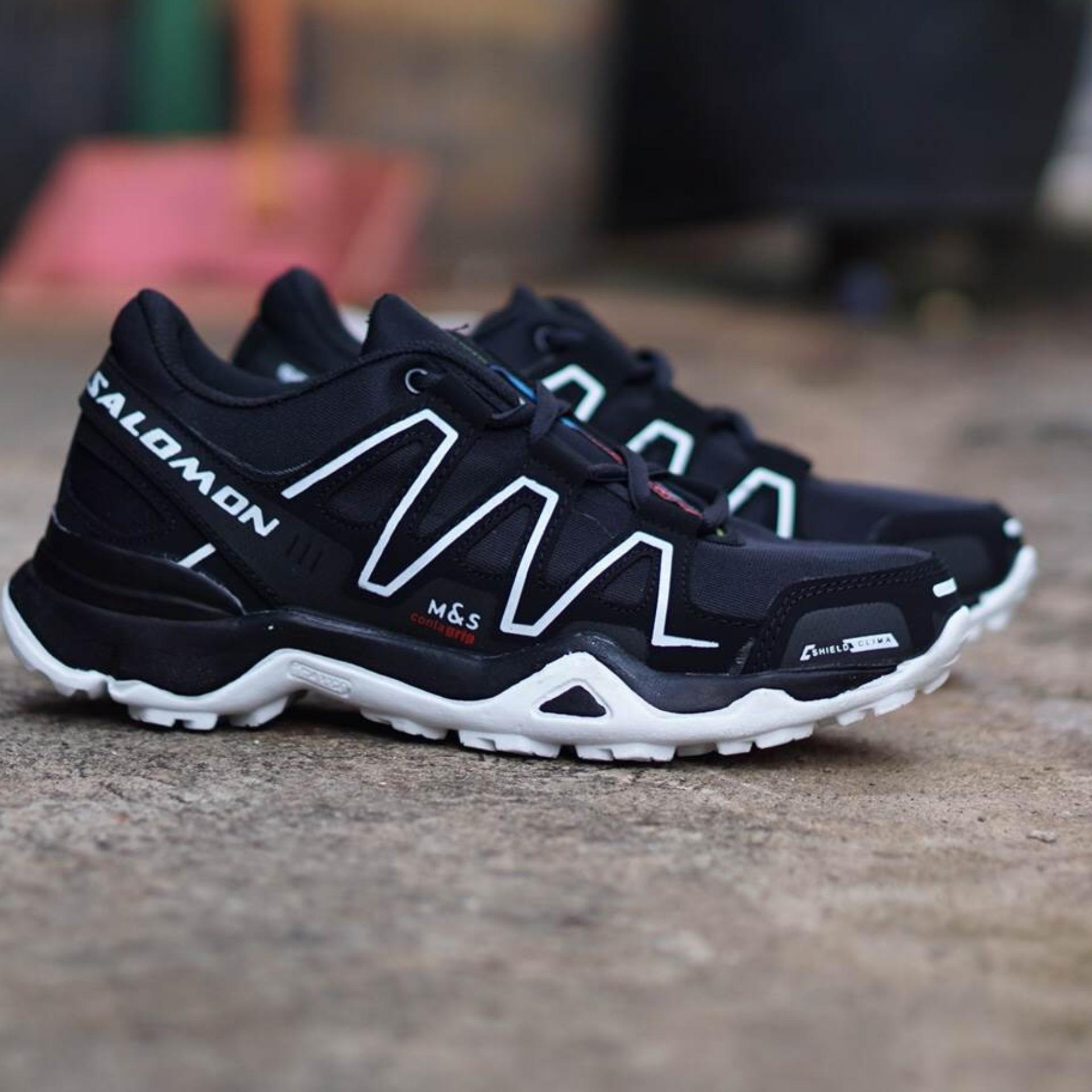 Jual Produk Salomon Online Terbaru Di Ardiles Bramuda Men Running Shoes Hitam 39