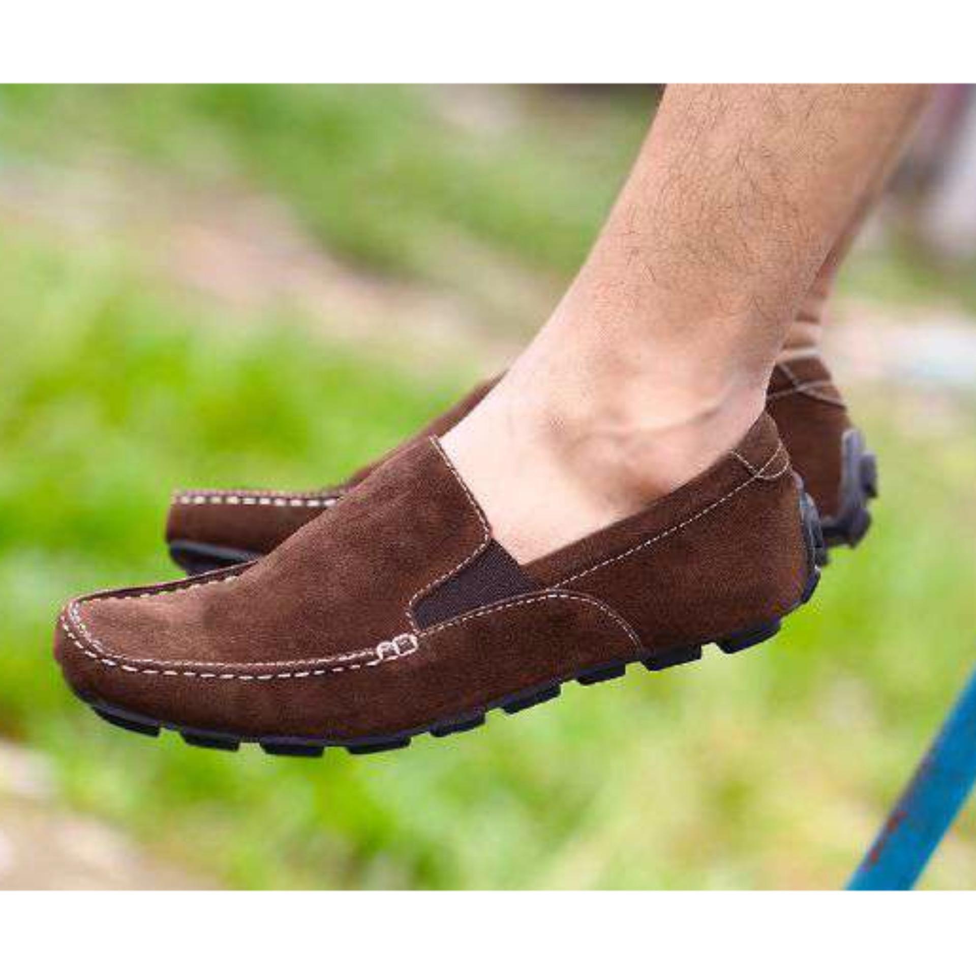 Diskon Produk Sepatu Santai Slop Casual Pria Wanita Olata Nyeak Coklat