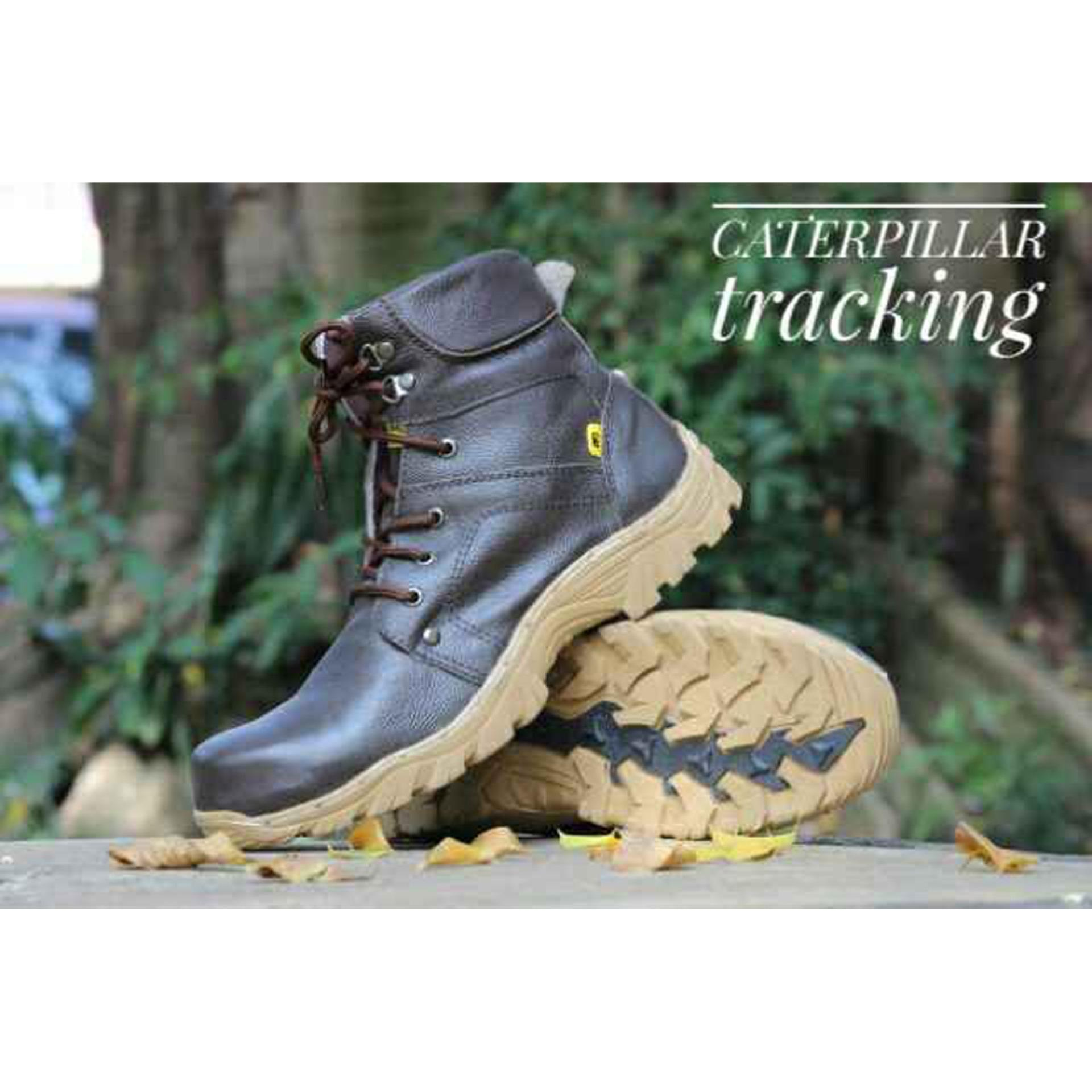 Sepatu Tracking Caterpillar Safety Boots KULIT ASLI