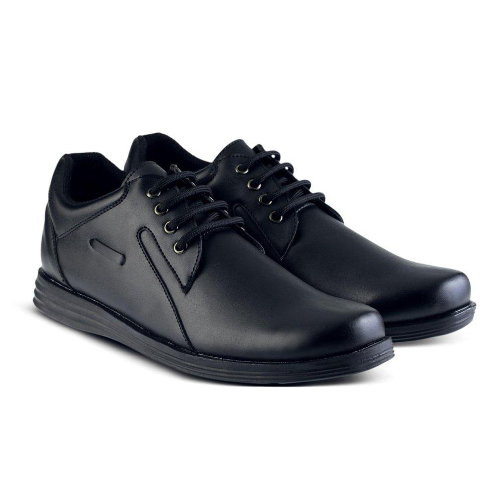 Sepatu VDB 446 Sepatu Formal Pantofel Pria Untuk Kerja dan Kantor Kulit Sintetis Harga Murah Berkualitas Warna Hitam