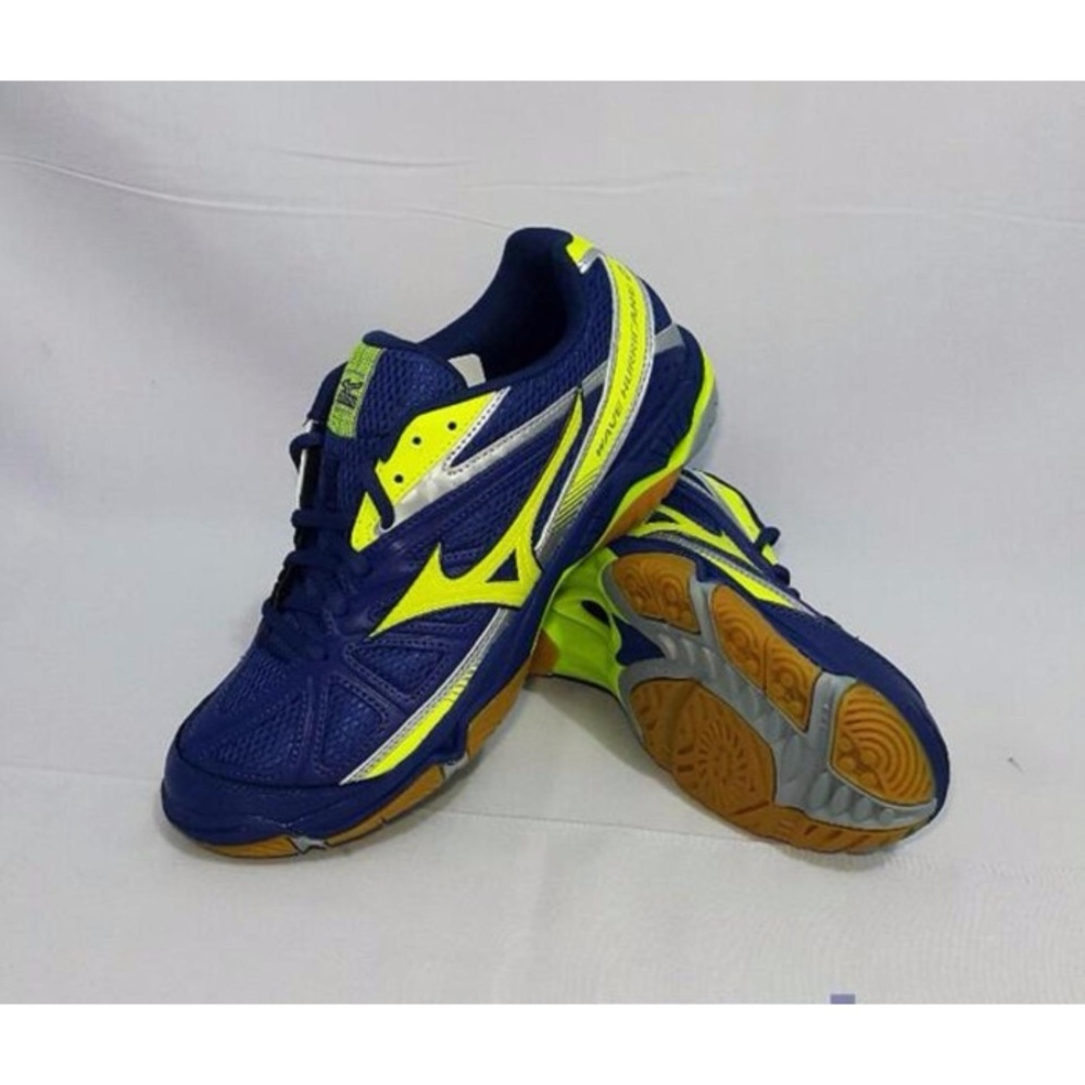Jual Sepatu Voli Mizuno Wave Hurricane 2 Twilight Blue Safety Yellow Online