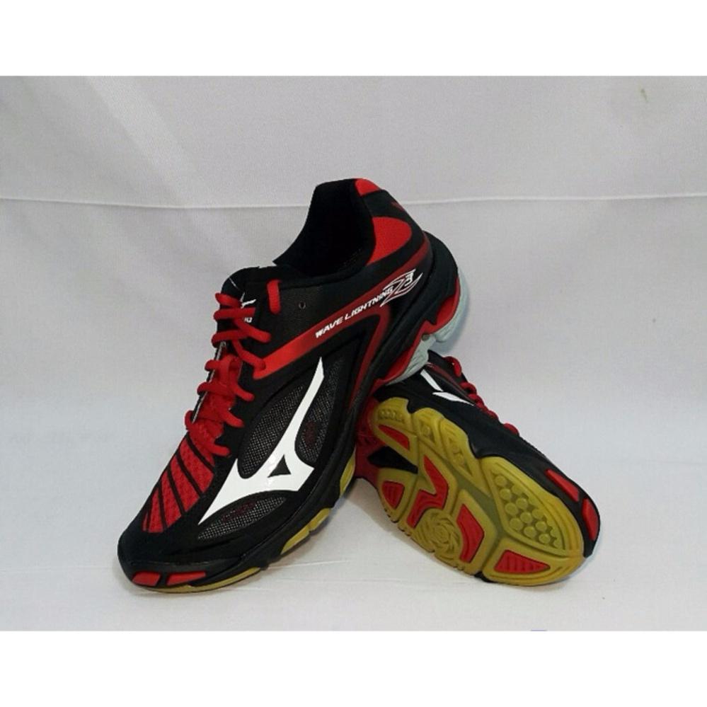 Beli Sepatu Voli Mizuno Wave Lightning Z3 Hitam Putih Merah Mizuno Asli