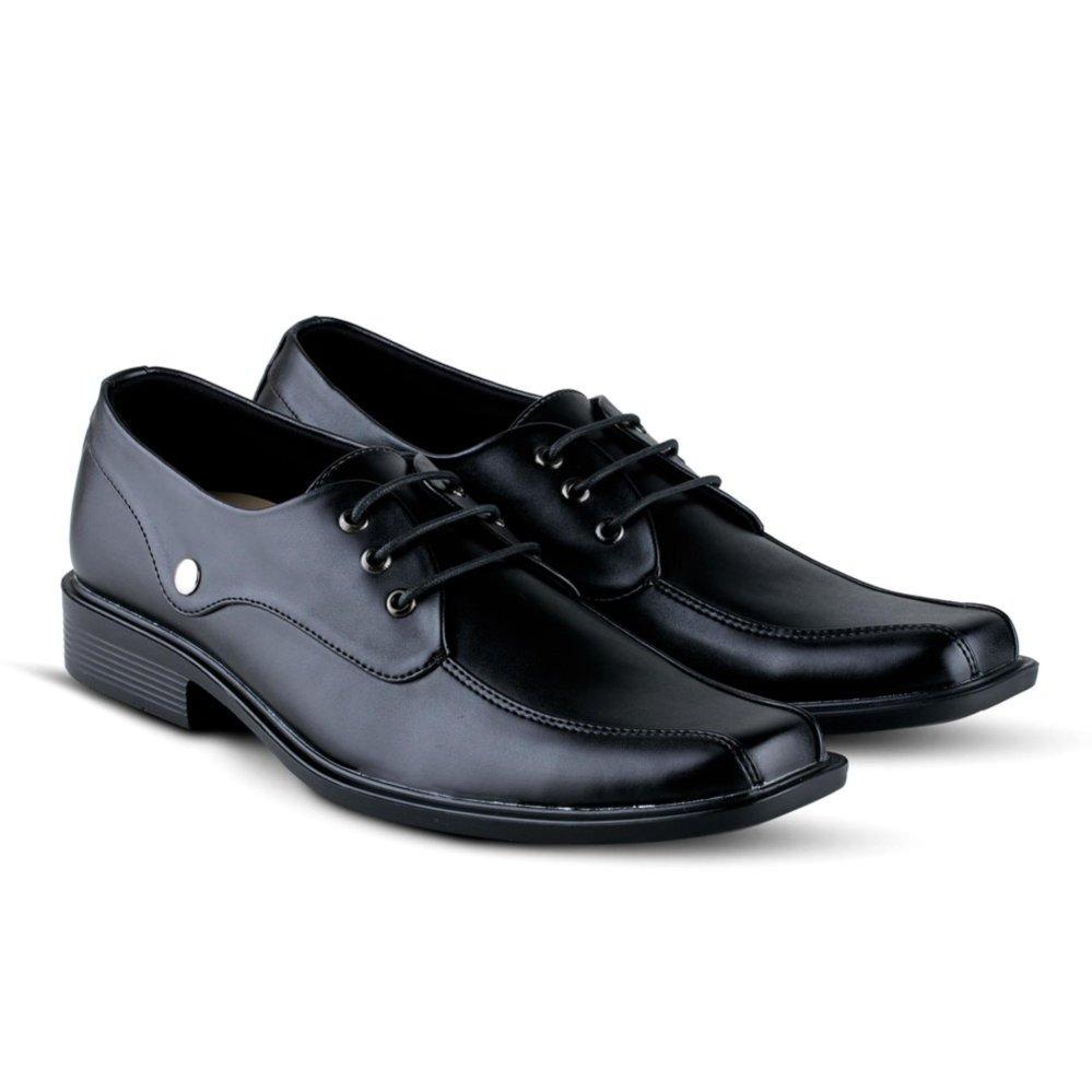 Sepatu VR 391 Sepatu Formal Pria Untuk Kerja Kantor Kulit Sintetis - Hitam
