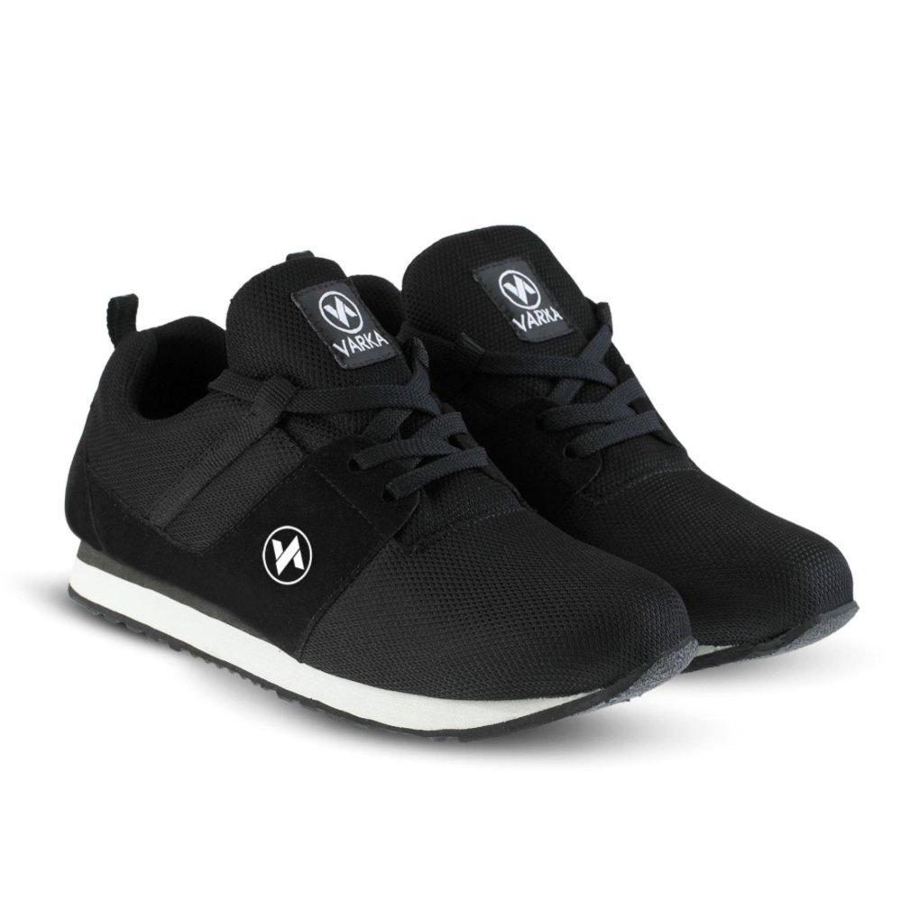 Sepatu VR 414 Sepatu Sneakers Kets dan Kasual Pria bisa untuk olahraga lari joging santai - Hitam