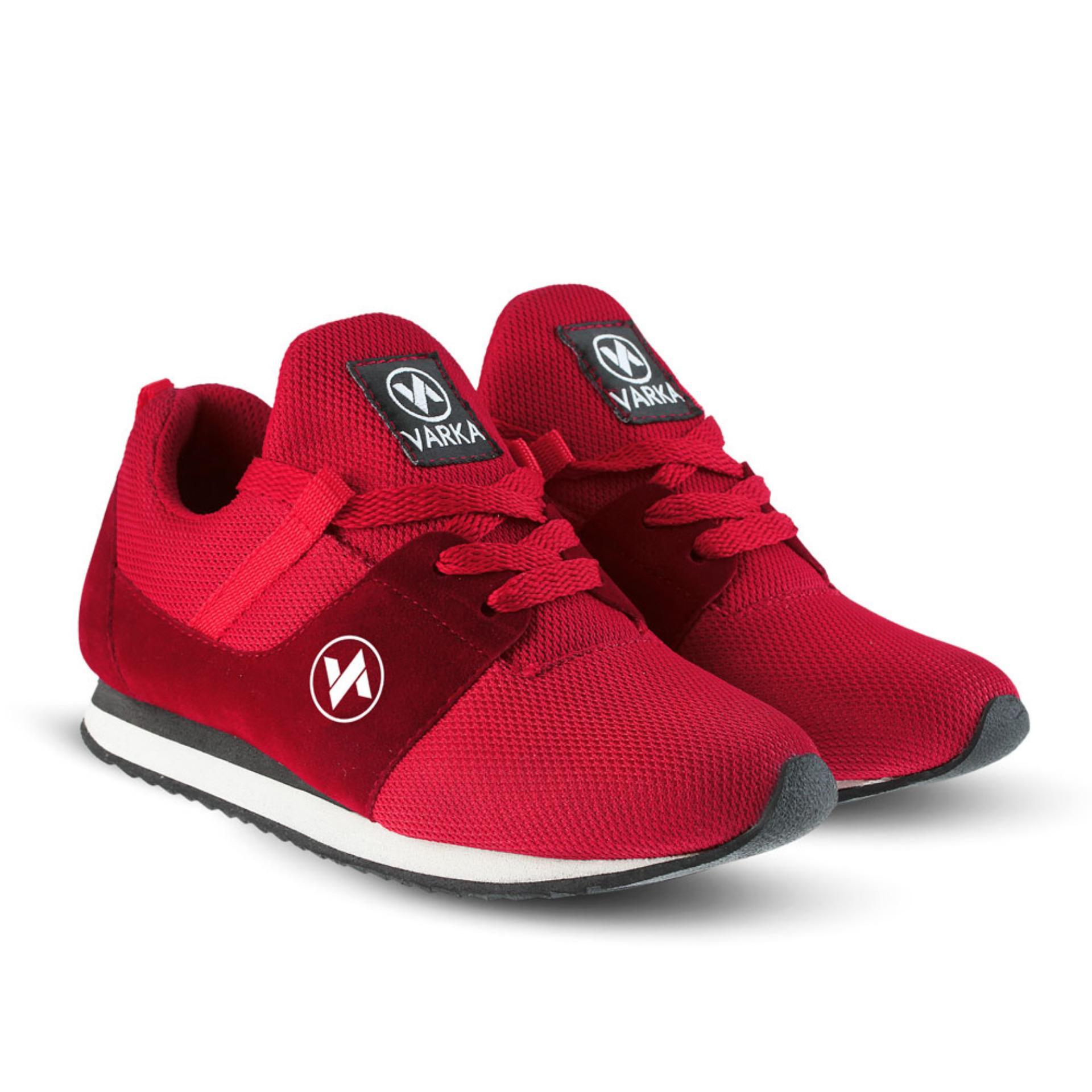 Sepatu VR 416 Sepatu Sneakers Kets dan Kasual Anak bisa untuk olahraga sekolah Jalan - Merah