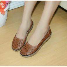 Sepatu Wanita Murah - Laser Sintetis Coklat NFZ-807