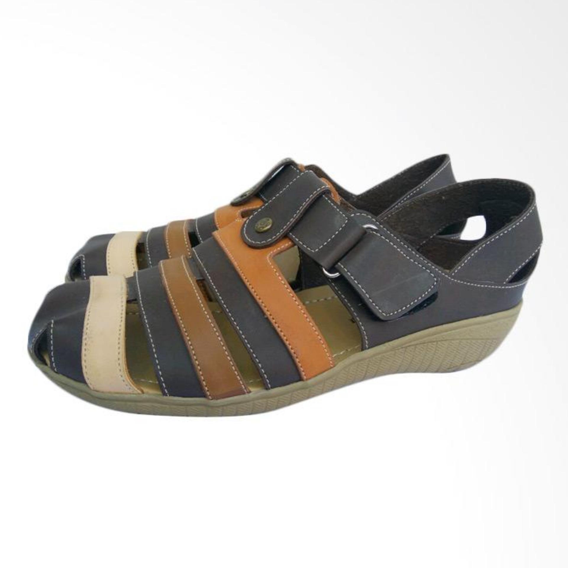 Sepatu Wanita Wedges kulit  - Coklat