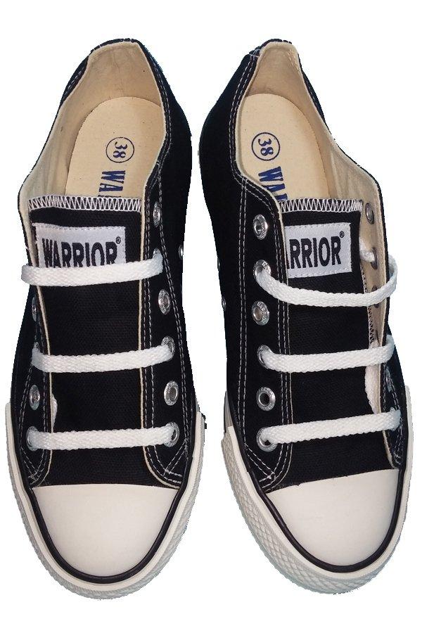 Harga Sepatu Warrior Sparta Low Cut Hitam Putih Paling Murah