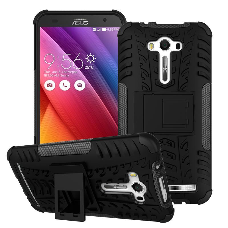 Sepeda/dinonaktifkan Mobil Ban Pola PC + TPU Hibrida Cover For Asus Zenfone 2 Laser ZE550 KL ZE551 KL-hitam