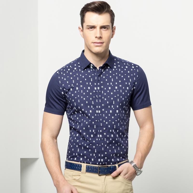 Musim gugur baru pria lengan panjang t-shirt (W36 biru tua). Source