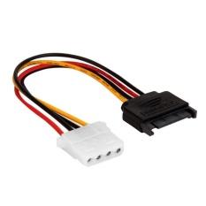 Serial ATA SATA 15 P untuk Hard Disk 4 P IDE Power Supply Kabel Konektor 20 Cm-Intl