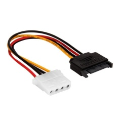Serial ATA SATA 15 P untuk Hard Disk 4 P IDE Supply Kabel Konektor 20 Cm-Intl