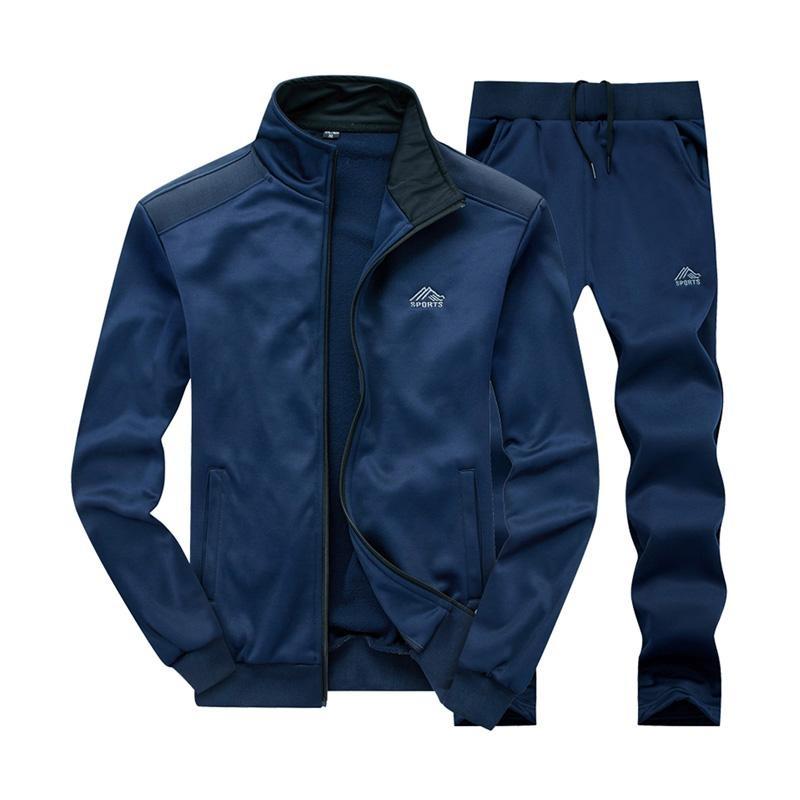 Beli Set Baju Olahraga Pria Bahan Elastis Warna Solid Cicilan