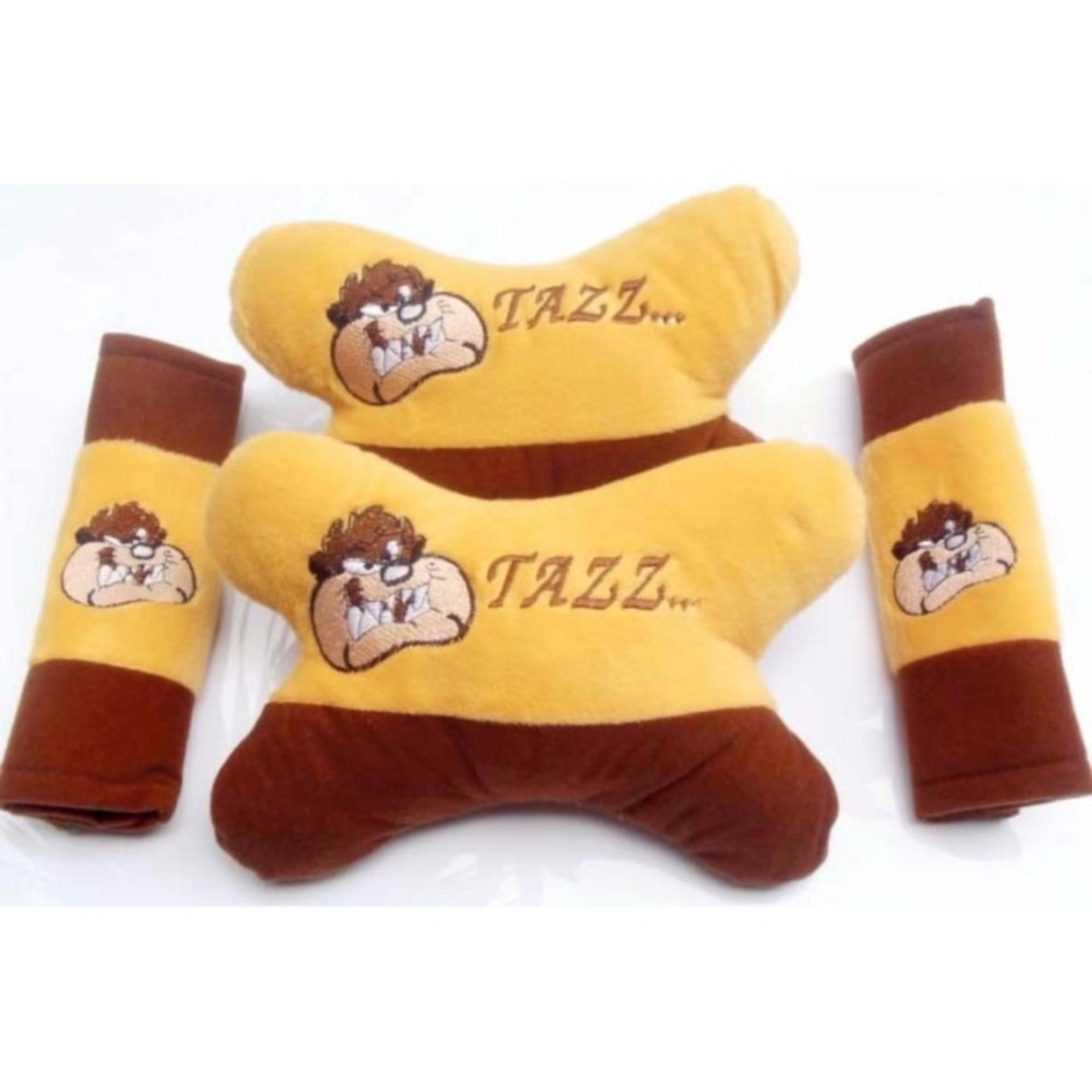 set bantal mobil 3in1 tazzmania
