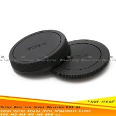 Set Body & Rear Cap Tutup Bodi & Lensa Belakang Kamera Mirrorless Canon EOS M2 M3 M5 M6 M10