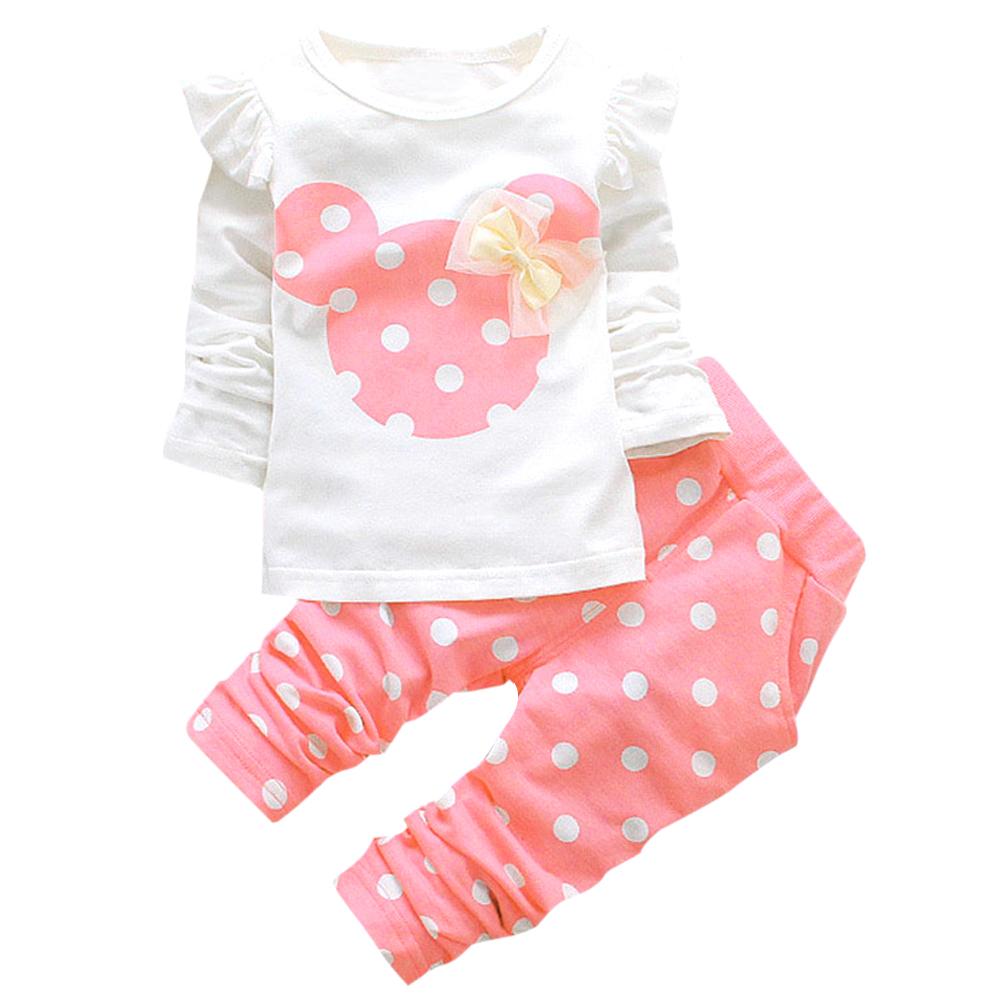 Model Set Pakaian Anak Cewek Tops T Shirt Legging Pants Pink 100 Cm Terbaru