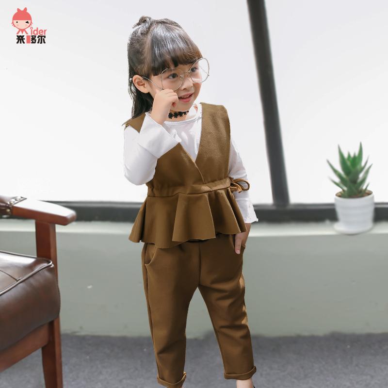 Beli Setelan Anak Perempuan Satu Set 3 Helai Versi Korea Kopi Warna Indonesia