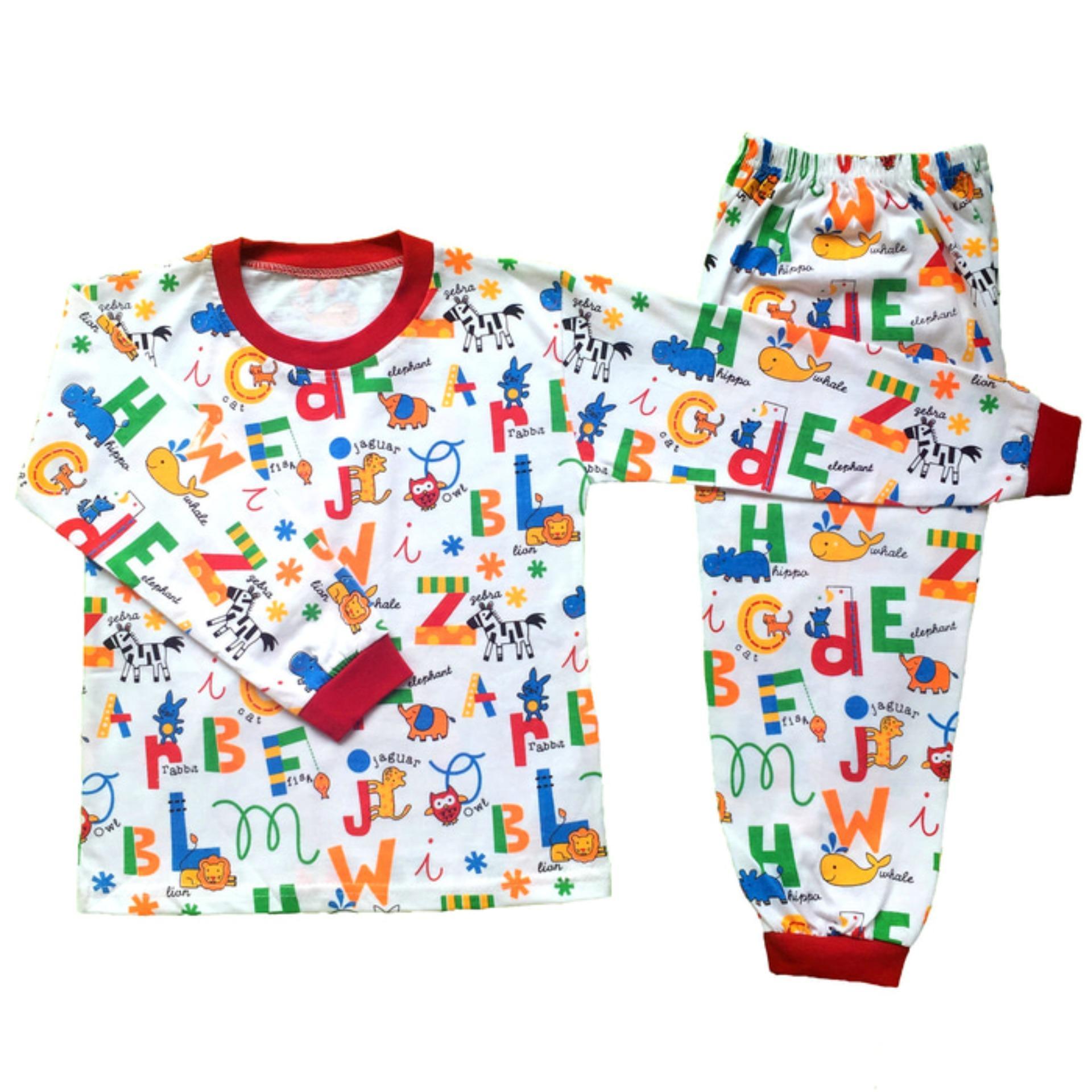Setelan Baju Tidur Piyama Anak Laki -laki Lengan Panjang PA11-001