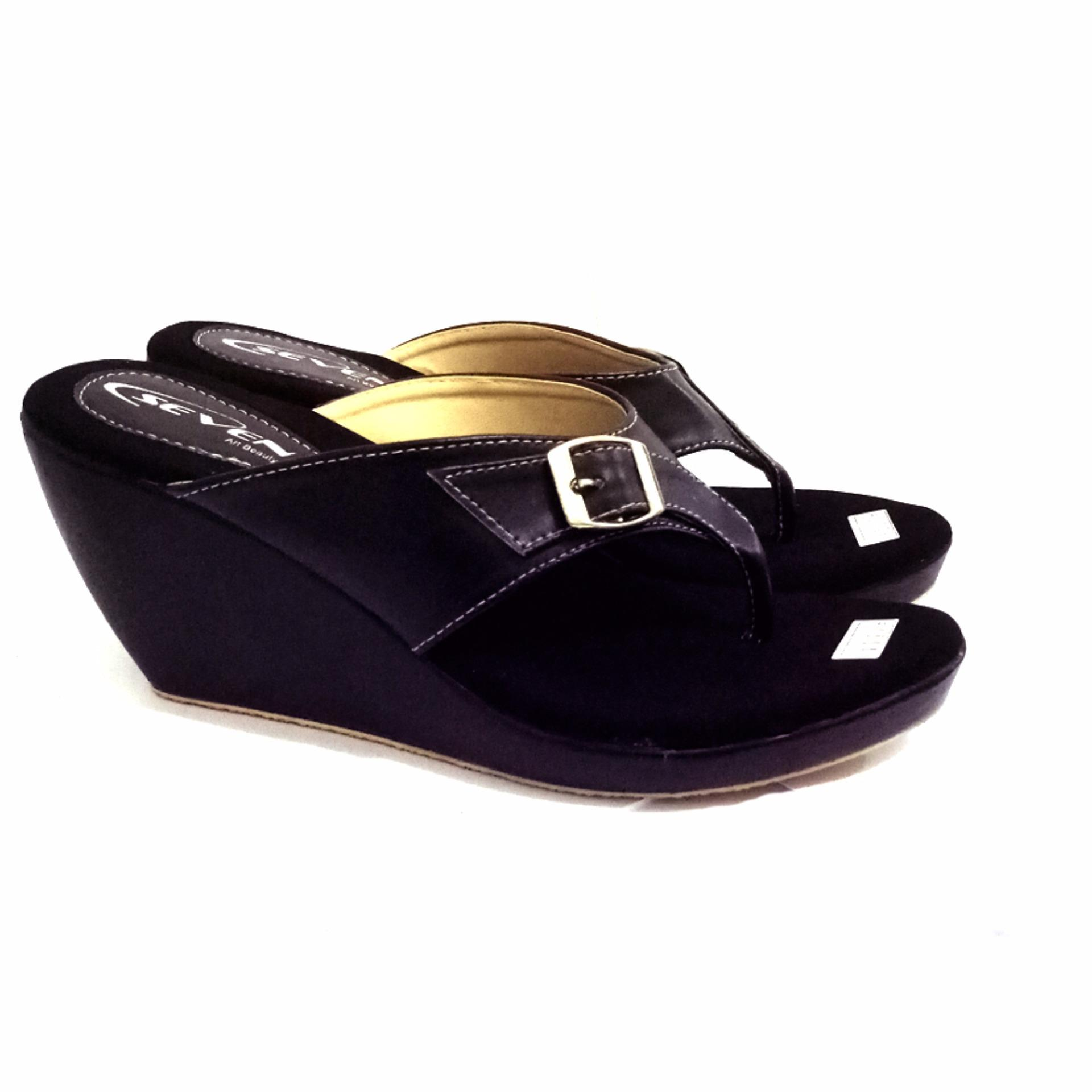 Review Seven Gracieux Wedges Black Na Seven Shoes