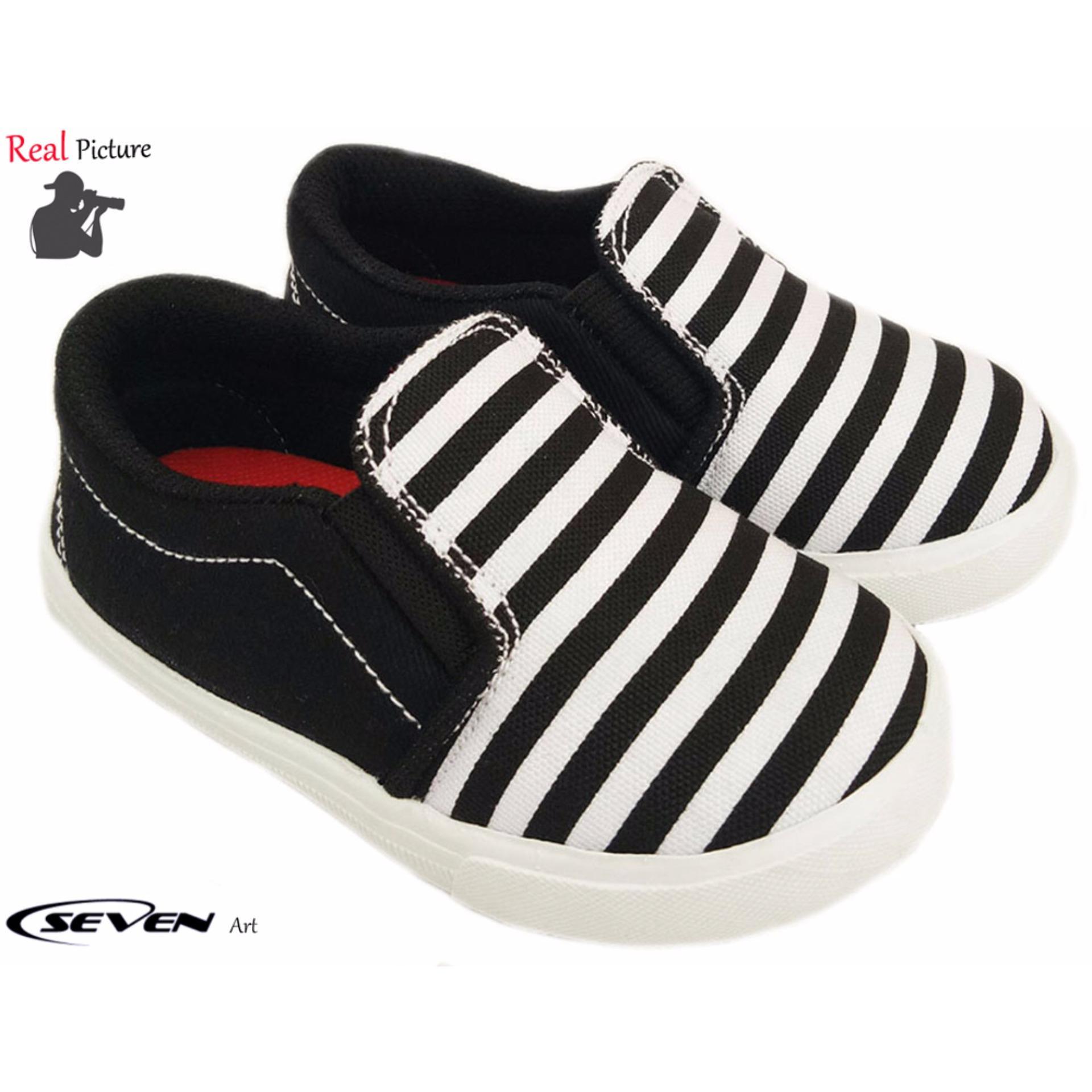 Seven Sepatu Anak Salur Hitam-MG