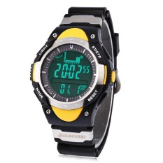 SH SUNROAD Fashion LED Digital Fishing Barometer Watch withAltimeter Thermometer Date and Rubber Watchband Yellow  - intl