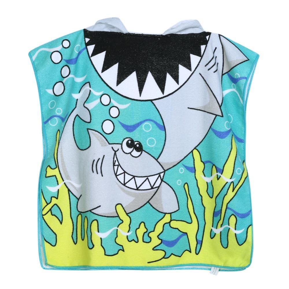 Spesifikasi Shark Pola Anak Anak Pantai Handuk Kartun Hooded Boys G*rl Baby Bath Towel Multicolor Intl Lengkap