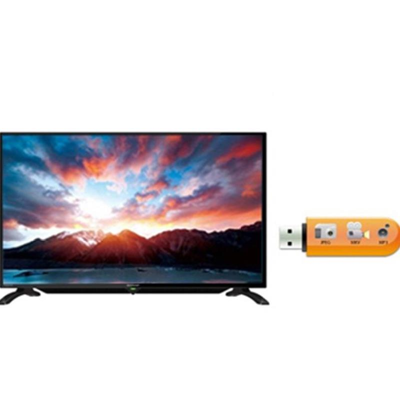 Sharp 32 inch LED HD TV - Hitam (Model LC-32LE185i) GARANSI RESMI