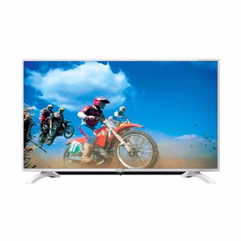 SHARP 40LE185 LED TV - Putih [40 Inch]+Bonus Bracket Dinding *KHUSUS JABODETABEK*