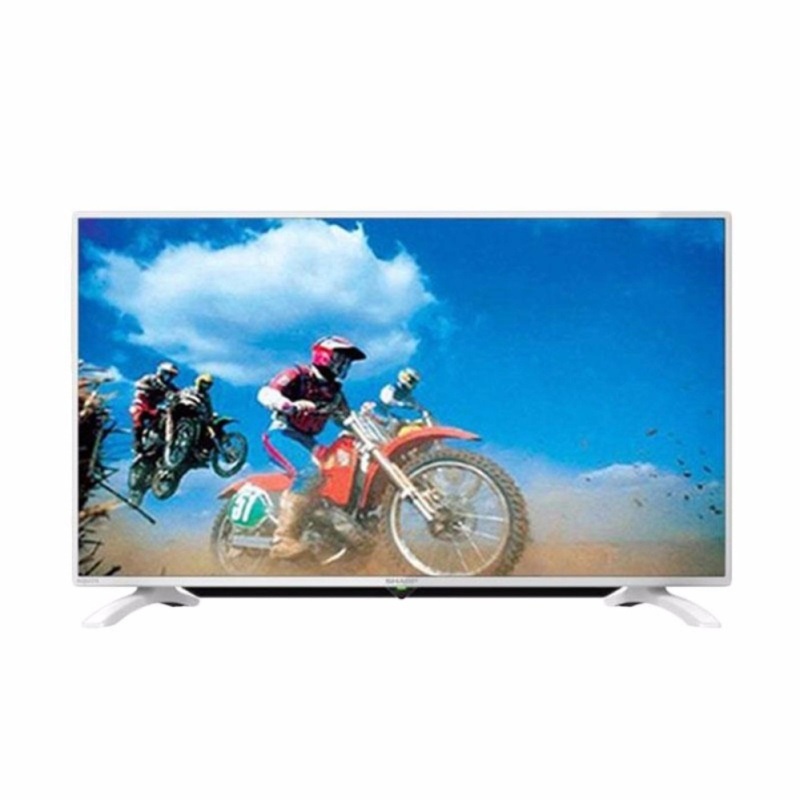 Sharp Full HD LED TV w/ Super Eco Mode 40 - 40LE185i/Wh - Putih - Khusus JABODETABEK